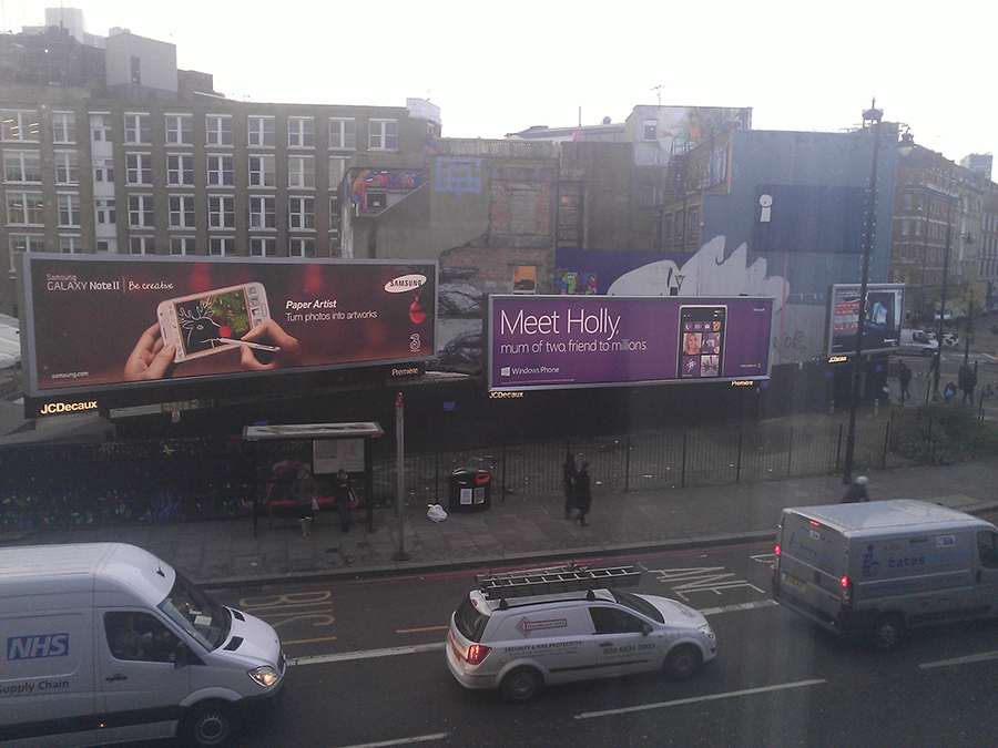 The view from my hotel. Windows Phone 8 advert! :P